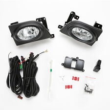Clear Fog Lights For 2006-2008 Honda Civic Sedan 4Dr w/Bezel Switch Wiring Bulbs