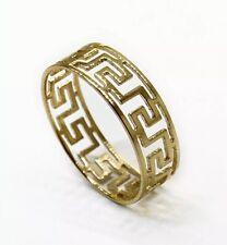 Band Ring Size 8, 1.5 Grams, Unisex 14K Yellow Gold 6 Mm Greek Key