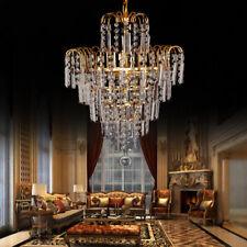 Kronleuchter Kristall Lüster E14 Deckenlampe Deckenleuchte Licht Wohnzimmer Gold