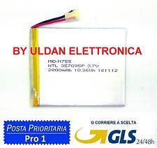 BATTERIA TABLET PC 3,7V 2800mAH - Dimensioni 8,1cm * 6,7cm * 0,3cm