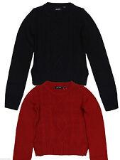 Mädchen-Pullover mit Rundhals-Ausschnitt aus Baumwollmischung