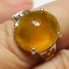 Natural Mexico Yellow Opal Ring 925 Silver,Fine Estate Jewelry. Sz 6.5