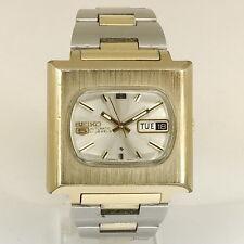 SEIKO Automatik Herren Armbanduhr Stahl / Vergoldet - 1970er Jahre coole Kultuhr