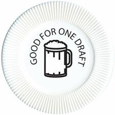 Drink Tokens, Bar Chips, Plastic Drink Tokens, Restaurants, Bars 100 Pcs White