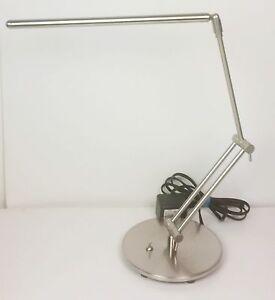 LED desk lamp adjustable arms, rotating head Chrome glowworm