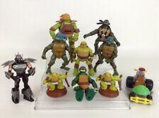 Lot (10) Teenage Mutant Ninja Turtles Toy Figures Shredder Leo Raph Mikey Donnie