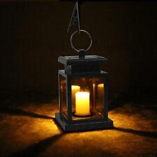 Outdoor Solar Lantern Hanging Light LED Candle Yard Patio Garden Lamp Waterproof
