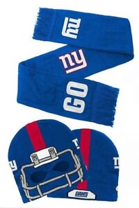 Licensed NFL Youth Scarf & Hat Set ~ New York Giants