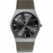 Bering Ladies Watch Wristwatch Titan Slim Classic - 11935-079-1 Leather
