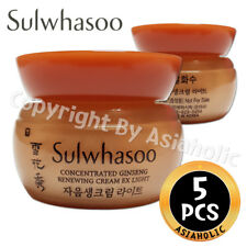 Sulwhasoo Concentrated Ginseng Renewing Cream EX Light 5ml x 5pcs (25ml) Newist