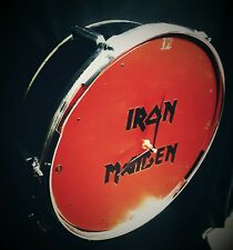 Iron Maiden Drum Clock upcycled