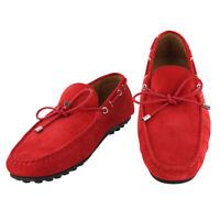 Neuf Fiori Di Lusso Rouge Daim Chaussures - Mocassins - (2018032030)