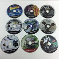 Lot of 9 PS2 Playstation 2 Games Mission Impossible Ghosts Recon UNTESTED HG11