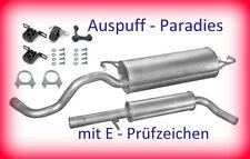 Abgasanlage Auspuffanlage Endtopf VW New Beetle 1.4 Schrägheck & Cabrio + Kit