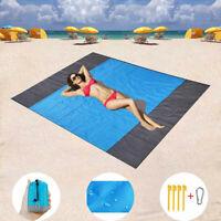 210x200cm Sand Free Summer Beach Mat Outdoor Picnic Blanket Rug Mattress Pad