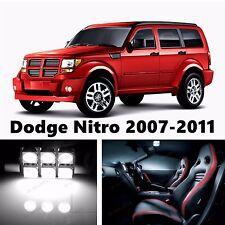 10pcs LED Xenon White Light Interior Package Kit for Dodge Nitro 2007-2011