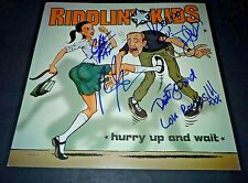 RIDDLIN KIDS~Hurry Up and Wait~12x12~Signed~Original Promo Poster~2002~Proof