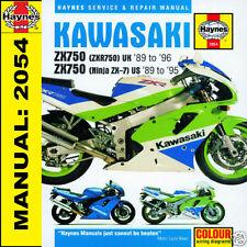 Kawasaki ZX750 ZX750H ZX750J ZX750K Ninja ZX7R 1989-1996 Haynes Manual 2054 NEW