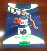 """2018 CONTENDERS SAQUON BARKLEY """"ROOKIE OF THE YEAR"""" (GREEN PARALLEL) RC  """"RARE"""""""