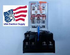 New Relay 11pin Coil 220vac 10a 250vac30vdc With Socket Base 7a 250v
