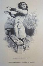 Caricature Humour GRANDVILLE Jérome Paturot REYBAUD Hercule Mitouflet Chevalier