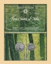 ITALIA 1991 Flora e Fauna d'Italia Monete L.500 + L.200 Argento FDC