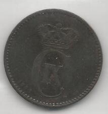 DENMARK, 1880, 2 ORE, BRONZE, KM#793.1,  VERY FINE-EXTRA FINE