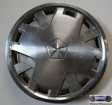 """'85-'89 DODGE, USED 14"""" HUBCAP, MACHINED, METAL, 12 HOLE, ENGRAVED LOGO,  449"""