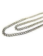 Stainless Steel Endless 24 Inch Heavy Curb Chain for Saint Medals or Crosses