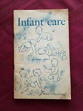 1955 INFANT CARE Childrens Bureau Publication No 8 SSA Paperback Booklet Signed