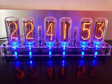 IN-18 Nixie Clock - Assembled - 6 NOS Tubes - Largest Nixie Tubes Available!!!