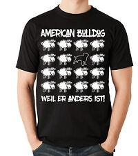 T-Shirt BLACK SHEEP - AMERICAN BULLDOG - Hunde Fun Schaf Men Hund
