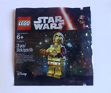 Nuevo Sellado Original Lego Star Wars C-3PO C3PO rojo brazo 5002948 Bolsa De Polietileno