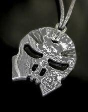 Halskette | GHOSTRIDER ONE | ANHÄNGER | Damaststahl | Schmuck für Männer