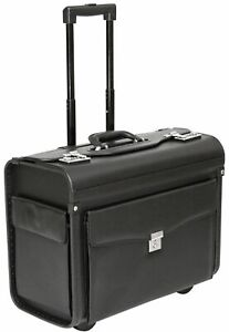 Wheeled Pilot Case Briefcase Business Laptop Travel Briefcase Bag Hand Luggage