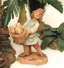 "Fontanini Depose Italy 5"" Young Isaak Nativity Village Figure 75556 Mint No Bx"