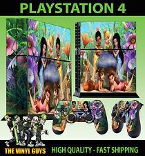 PS4 Piel Tinkerbell Y Amigos Fairies Pixie Pegatina + Almohadilla Calcomanía Vinilo se