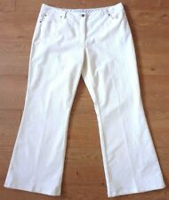Laura Ashley Ladies White Corduroy Wide Trousers Size UK 16, EUR 42