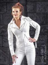 Lackjacke Jacke Weiß Biker-Style Nieten Vinyl Maßanfertigung