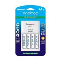 Panasonic Eneloop AA 2000 mAh NiMH Batteries with Charger, 4-Pack Batteries