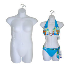 White Female Dress & Plus Size Mannequin Forms - Display S-M And 1x-2x Sizes