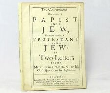 JUDAICA Two Conferences Betwixt Papist Jew Protestant by RICHARD MAYO
