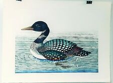 DAN MITRA COMMON LOON ETCHING HAND TINTED SIGNED & # 325/350 RARE FIND