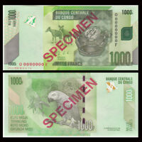 [Specimen] Congo 1000 Francs Banknote, 2013, P-101s, UNC, Africa Paper Money
