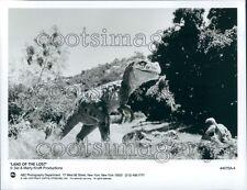 1991 Tyrannosaurus Dinosaur Land of The Lost TV Show Press Photo