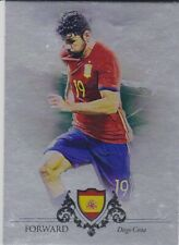 FUTERA 2016 DIEGO COSTA SPAIN # 12/21 SILVER PARALLEL FOOTBALL CARD