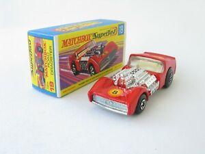 "Matchbox Superfast 19 Road Dragster Red Vertical ""8"" Crisp G Box"