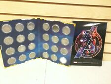 Marvel Avengers Infinity War Official Commemorative Collection 24 Coin Set