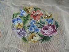 Bucilla Pre-Worked Center Needlepoint Canvas Bouquet Of Flowers
