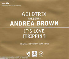 GOLDTRIX presents ANDREA BROWN - It's Love (Trippin') (UK 4 Tk Enh CD Single)